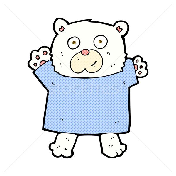 comic cartoon cute polar bear Stock photo © lineartestpilot