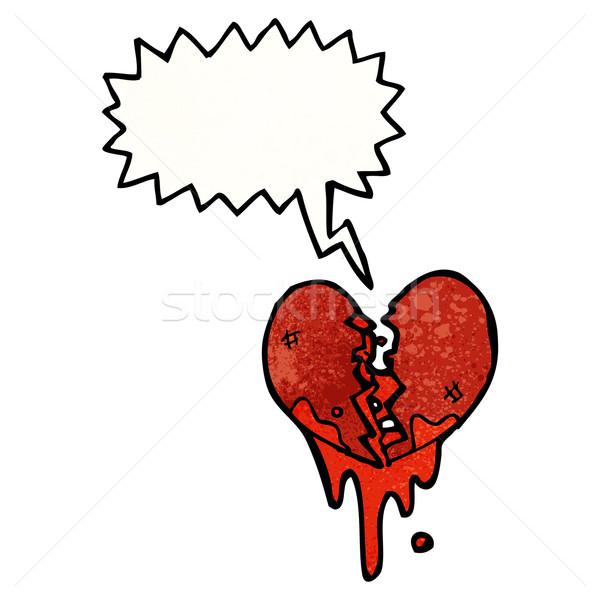 összetört szív rajz textúra kéz boldog szív Stock fotó © lineartestpilot