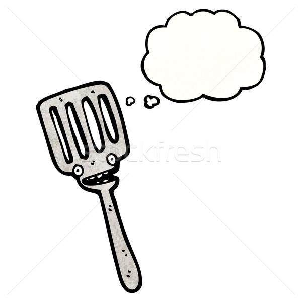 Cartoon spatule rétro pense dessin idée Photo stock © lineartestpilot