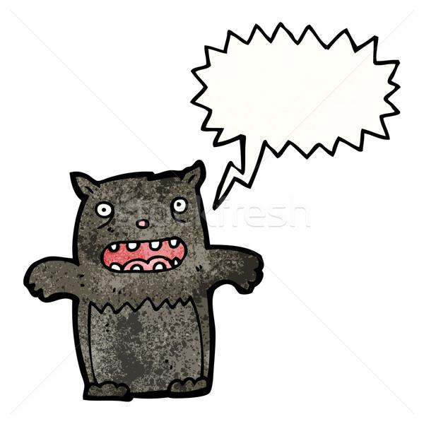 Gato desenho animado arte retro desenho bonitinho Foto stock © lineartestpilot