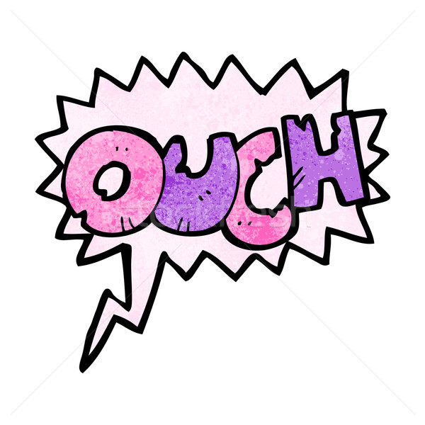 comic book ouch sign Stock photo © lineartestpilot