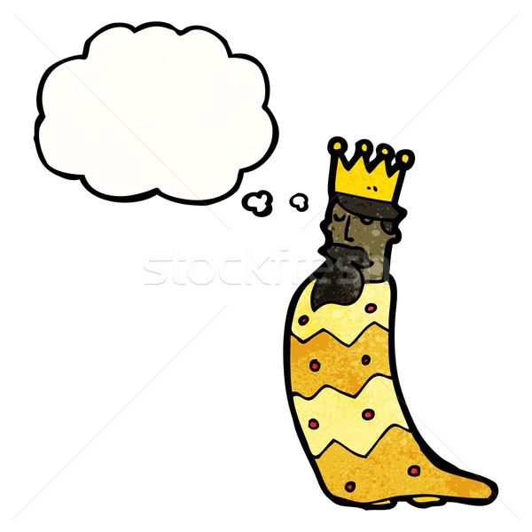 Egy három királyok retro léggömb rajz rajz Stock fotó © lineartestpilot