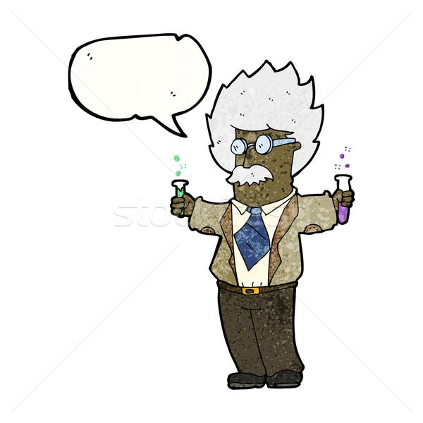 Cartoon genie wetenschapper man kunst retro Stockfoto © lineartestpilot