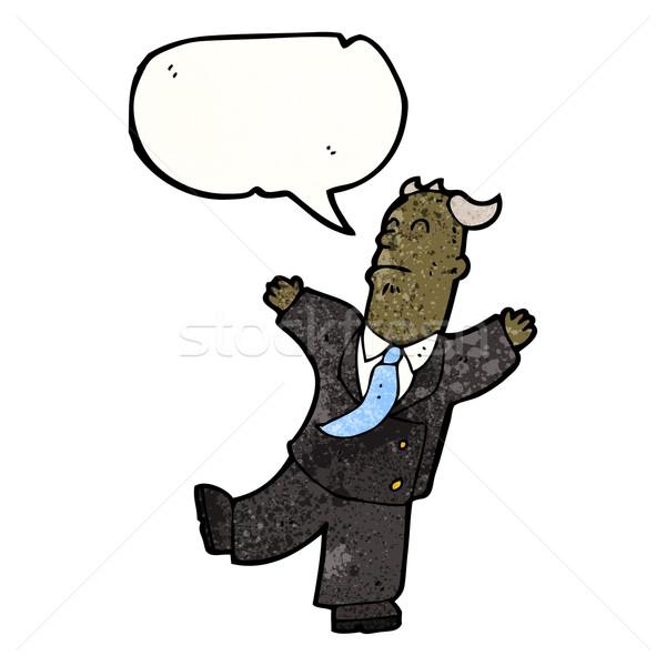 Cartoon vecchio imprenditore attacco di cuore cuore arte Foto d'archivio © lineartestpilot
