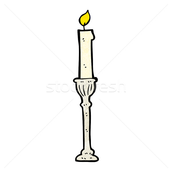 cartoon candlestick Stock photo © lineartestpilot