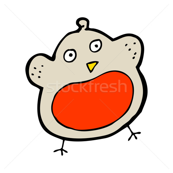 funny cartoon christmas robin Stock photo © lineartestpilot