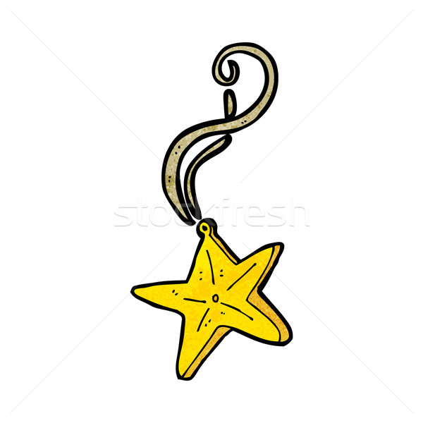 cartoon magic star necklace Stock photo © lineartestpilot