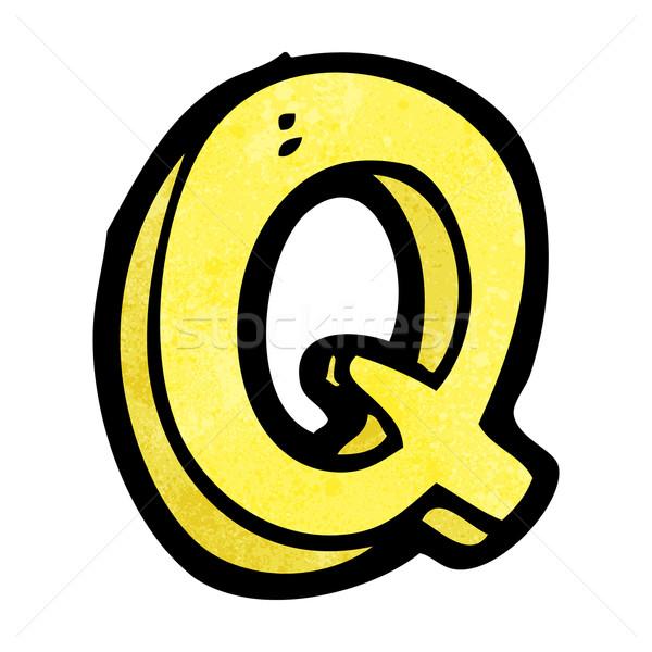 cartoon letter Q Stock photo © lineartestpilot