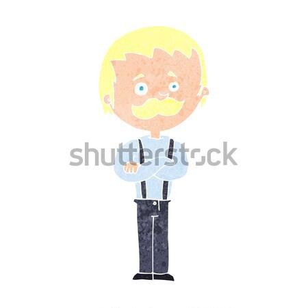 Cartoon человека усы дизайна искусства ретро Сток-фото © lineartestpilot