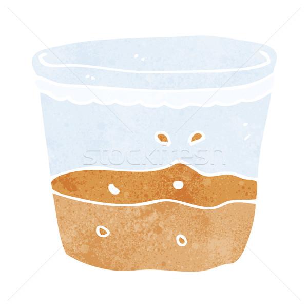Cartoon glas rum hand ontwerp drinken Stockfoto © lineartestpilot