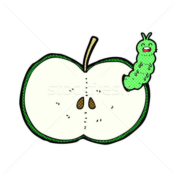 comic cartoon bug eating apple Stock photo © lineartestpilot