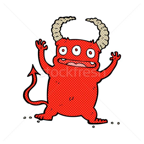 Stock fotó: Képregény · rajz · kicsi · ördög · retro · képregény