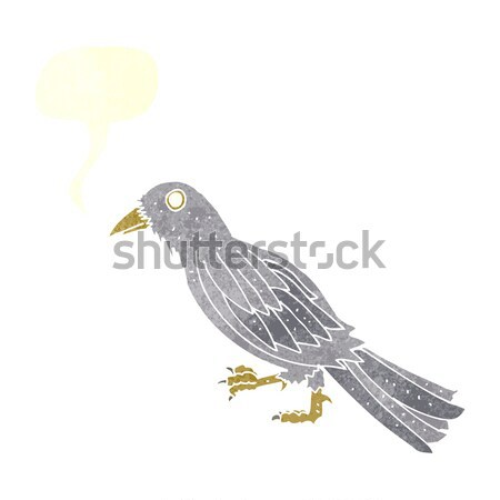 cartoon crow with thought bubble Stock photo © lineartestpilot
