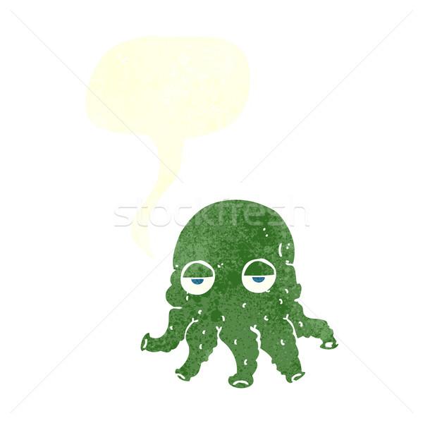 Cartoon straniero calamari faccia fumetto mano Foto d'archivio © lineartestpilot