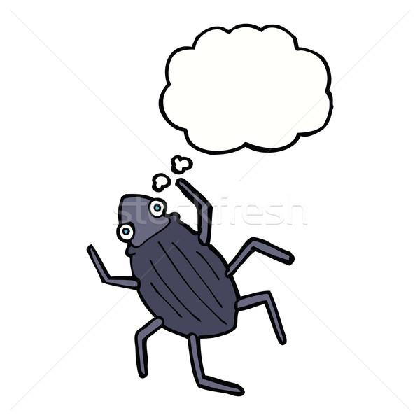 Cartoon bug bulle de pensée main design art Photo stock © lineartestpilot