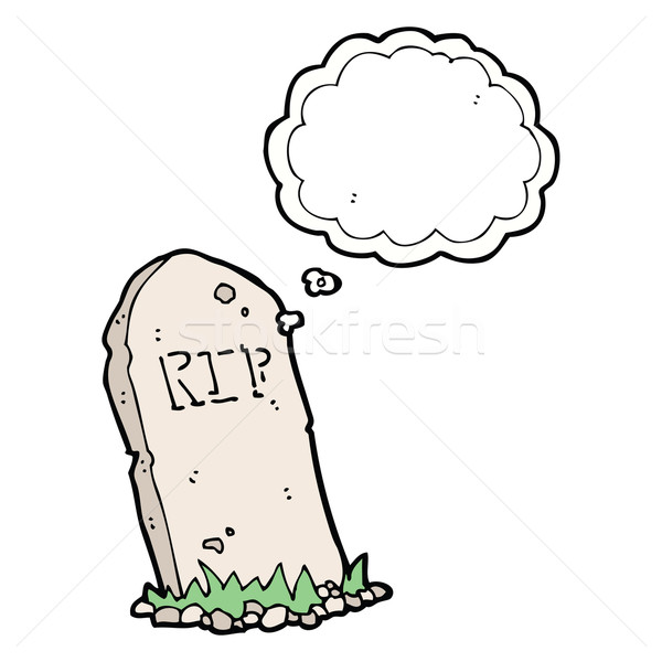 cartoon spooky grave with thought bubble Stock photo © lineartestpilot