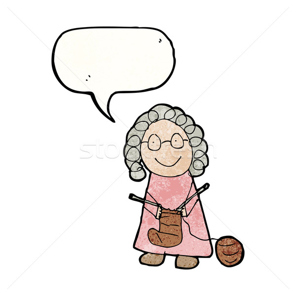 child's drawing of a grandmother Stock photo © lineartestpilot