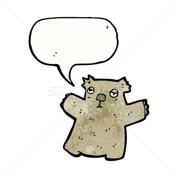 Cartoon wombat retro beer tekening cute Stockfoto © lineartestpilot