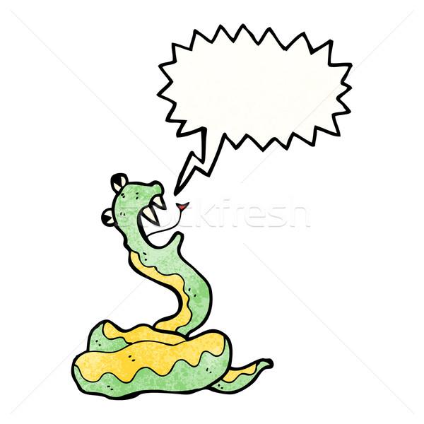 Desenho animado cobra retro serpente desenho bonitinho Foto stock © lineartestpilot