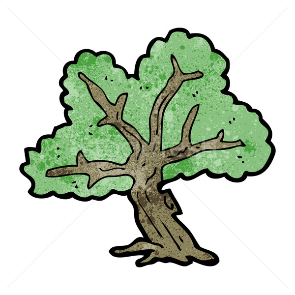 Cartoon arbre art rétro dessin cute Photo stock © lineartestpilot