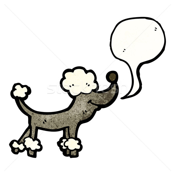 Cartoon caniche chien rétro dessin cute Photo stock © lineartestpilot