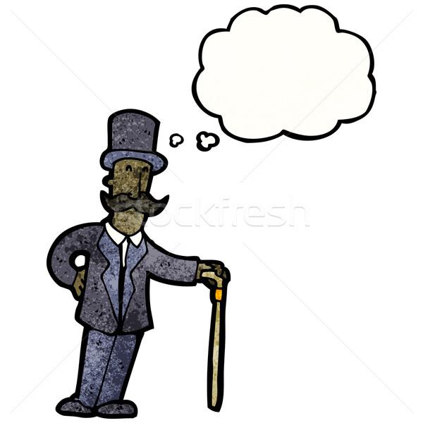Cartoon riche homme rétro ballon dessin Photo stock © lineartestpilot
