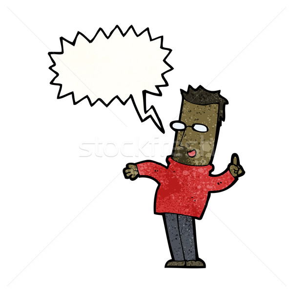 cartoon man answering question Stock photo © lineartestpilot