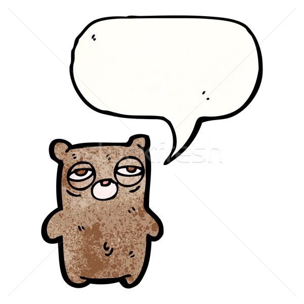 tired bear cartoon Stock photo © lineartestpilot