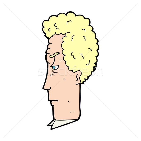 Cartoon agacé homme visage design art Photo stock © lineartestpilot