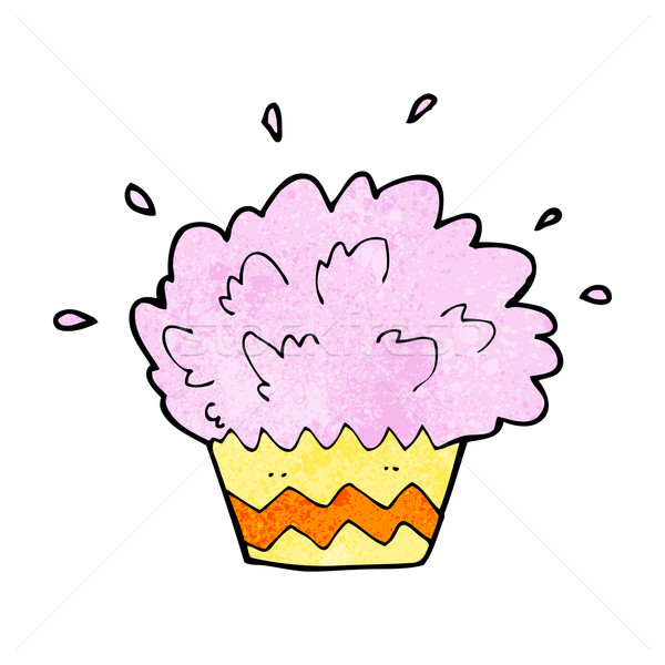 cartoon exploding cupcake Stock photo © lineartestpilot