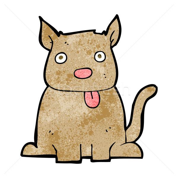 cartoon dog sticking out tongue Stock photo © lineartestpilot