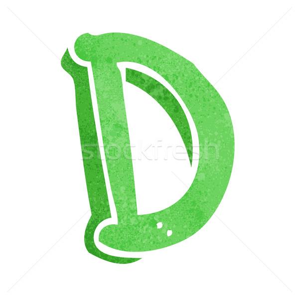 Rajz d betű kéz terv felirat levél Stock fotó © lineartestpilot