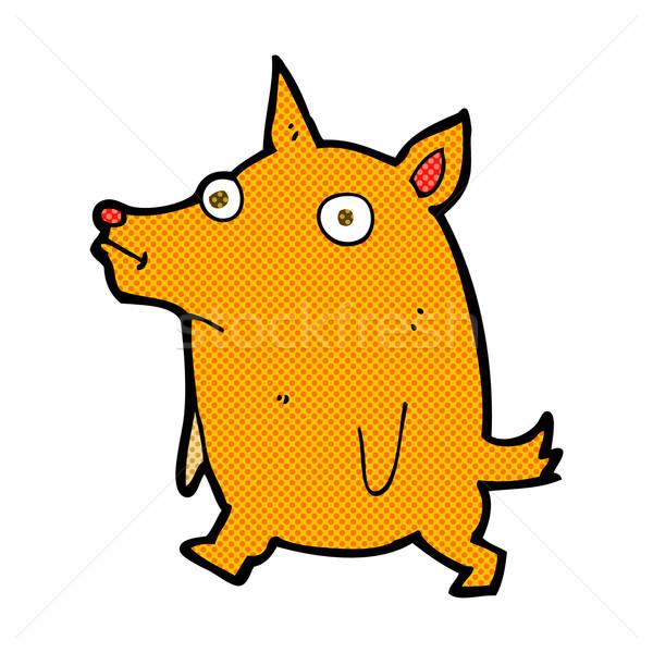 comic cartoon funny little dog Stock photo © lineartestpilot