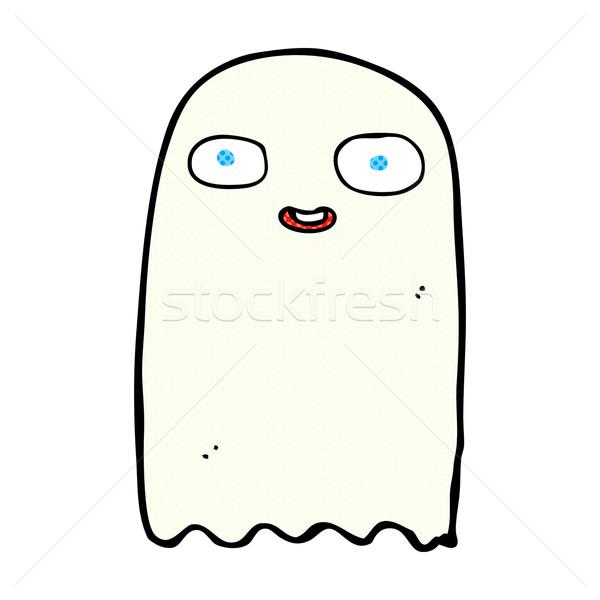 Engraçado cômico desenho animado fantasma retro Foto stock © lineartestpilot