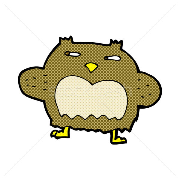 comic cartoon suspicious owl Stock photo © lineartestpilot