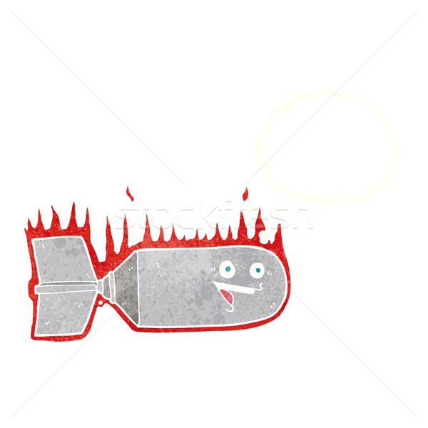 Cartoon relevant bombe bulle de pensée main design Photo stock © lineartestpilot
