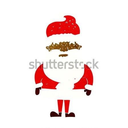 Cartoon knorrig kerstman gedachte bel hand ontwerp Stockfoto © lineartestpilot