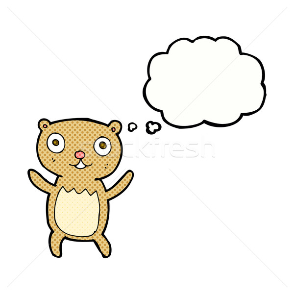 cartoon teddy bear with thought bubble Stock photo © lineartestpilot
