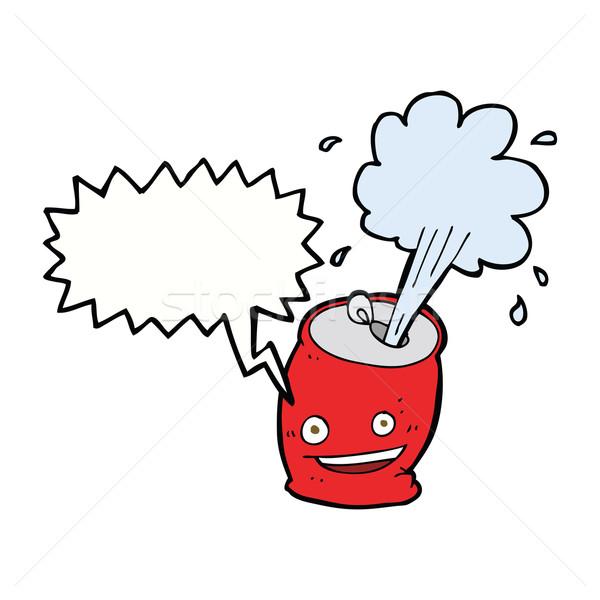 Karikatür konuşma balonu gıda el dizayn Stok fotoğraf © lineartestpilot