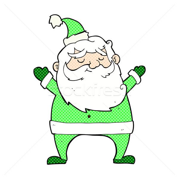 jolly santa comic cartoon Stock photo © lineartestpilot