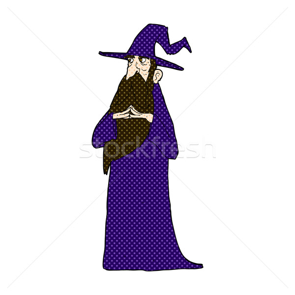 comic cartoon old wizard Stock photo © lineartestpilot