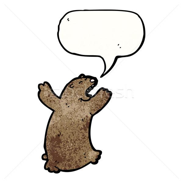 cartoon bear roaring Stock photo © lineartestpilot