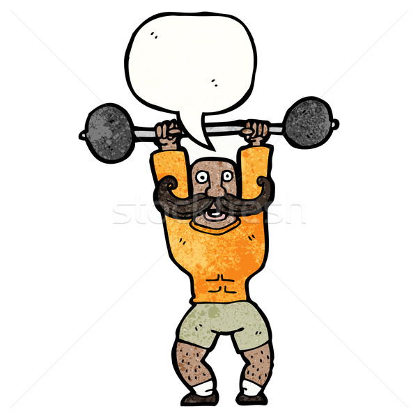 cartoon circus strongman Stock photo © lineartestpilot