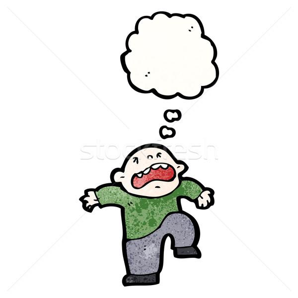 Cartoon berrinche retro dibujo masculina idea Foto stock © lineartestpilot