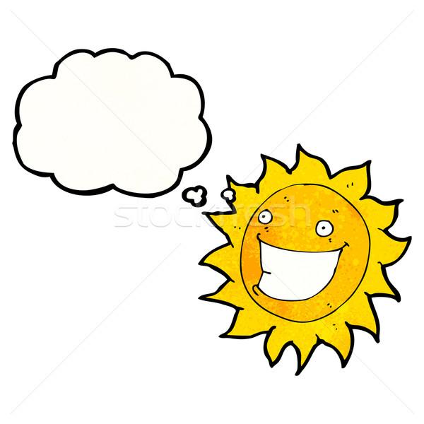漫画 太陽 にやにや にログイン レトロな バルーン ストックフォト © lineartestpilot