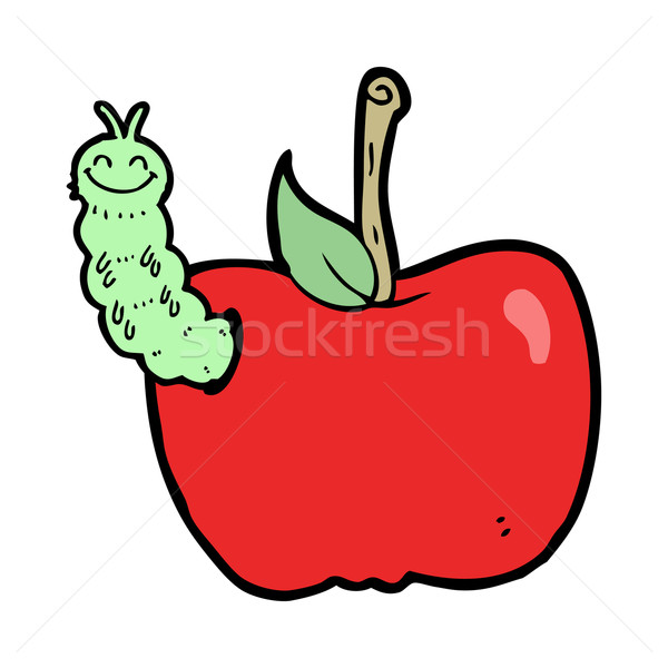 Cartoon pomme bug design fruits art Photo stock © lineartestpilot