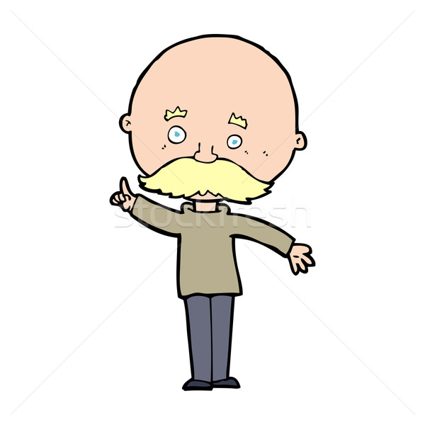 cartoon bald man with idea Stock photo © lineartestpilot