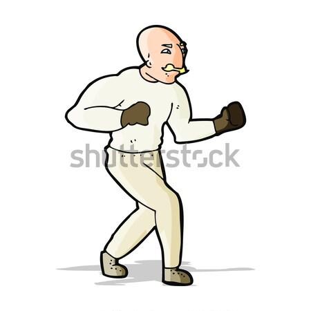 cartoon victorian boxer Stock photo © lineartestpilot