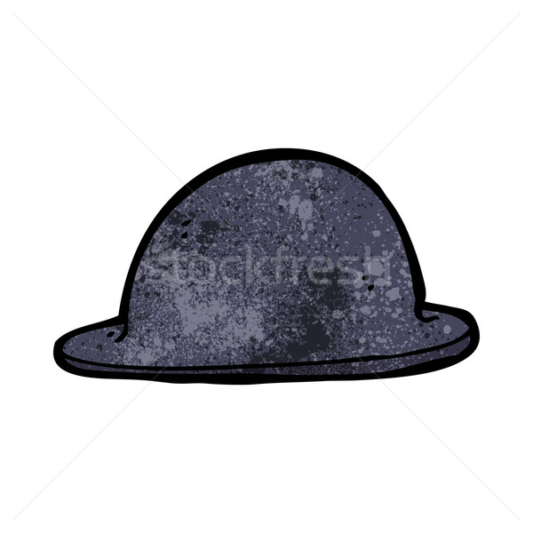 cartoon old bowler hat Stock photo © lineartestpilot