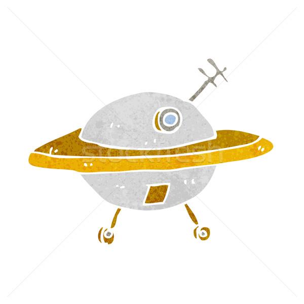 Cartoon Flying блюдце стороны дизайна искусства Сток-фото © lineartestpilot
